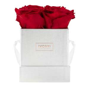 Flowerbox small, romantic red