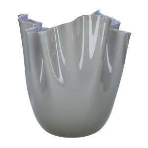 Vase 31 cm grau/indigo