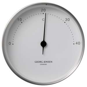Thermometer 10 cm Stahl/weiß