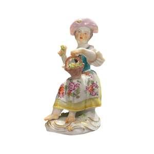 Gärtnerkind mit Blumenkörbchen 13,5 cm