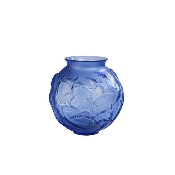 Vase Hirondelles 21,5 cm blau