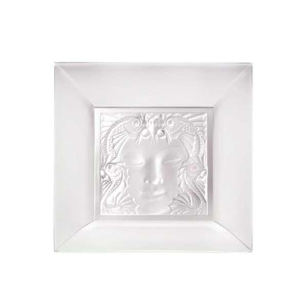 Schale quadratisch Masque de femme 30 cm klar