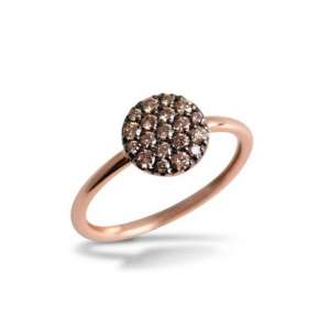 Ring Roségold 750/- braune Diamanten 0,31 W55
