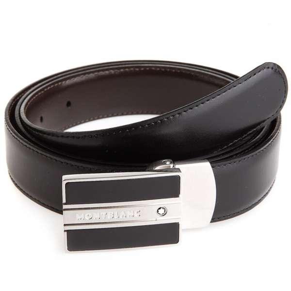 Wendegürtel 3 cm schwarz/braun