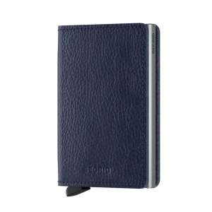 Slimwallet Vegetable Tanned navy/silver