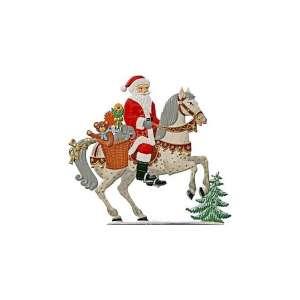 Nikolaus zu Pferd 12x12,5 cm