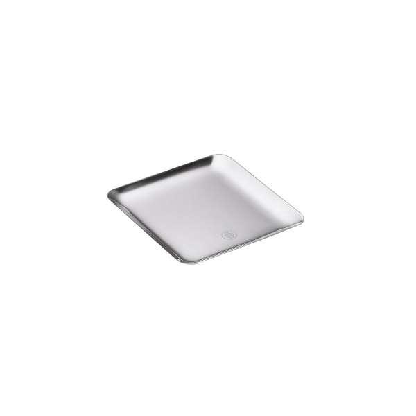 Tablett quadratisch 20x20 cm versilbert