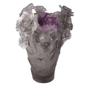 Vase 35 cm grau/violett lim. 500