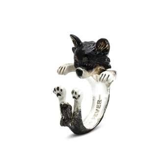 Ring Chihuahua Langhaar 925/- Sterling Silber M