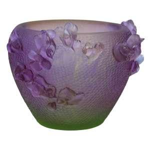 Vase 20 cm violett/grün