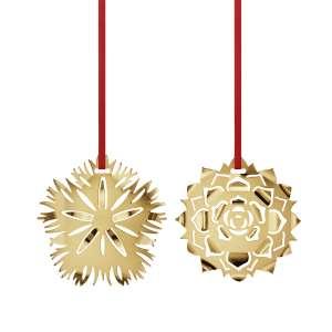 Weihnachtsschmuck 2020 Eisnelke & Rosette - Goldauflage