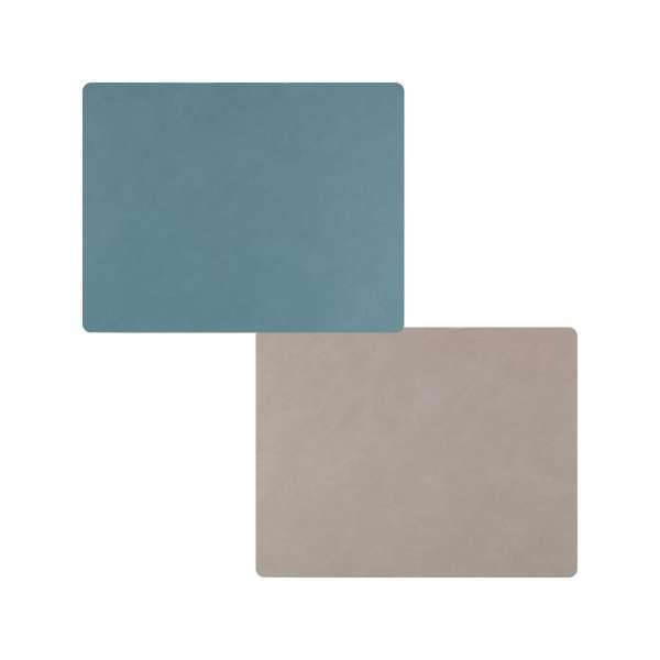 Tischset Double Nupo hell blau/hell grau