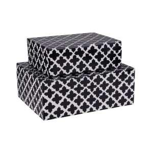 Aufbewahrungsbox 2er Set schwarz/weiß