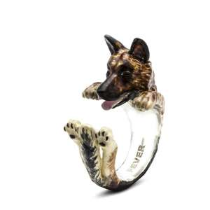 Ring Schäferhund Sterlingsilber 925 S