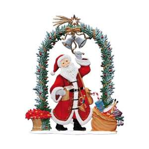Nikolaus am Weihnachtstor 15x12 cm