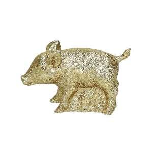 Schweinchen, Glimmer gold