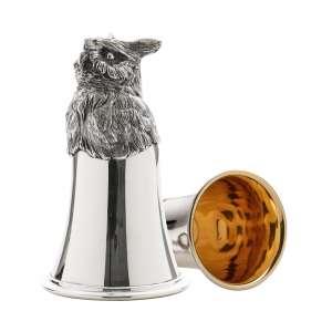 Tierkopfbecher Eule H 13 cm Sterling Silber