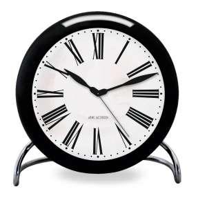 Tischuhr Roman schwarz/weiß 11 cm