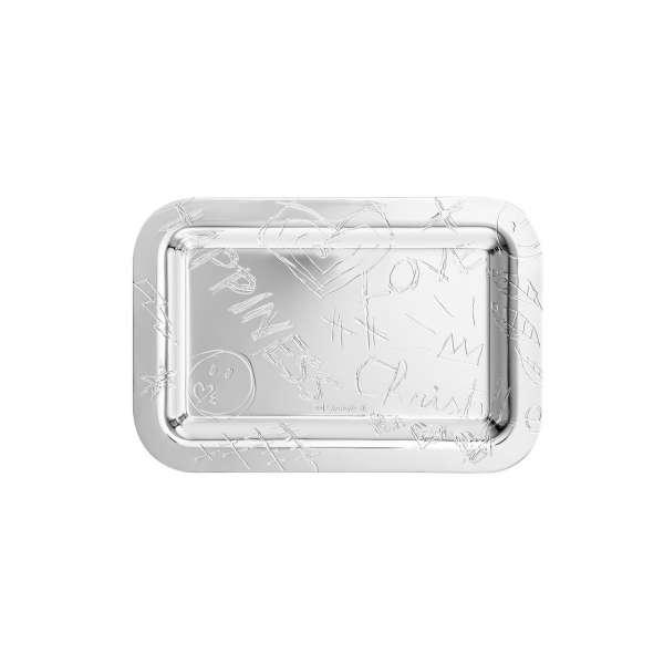 Tablett rechteckig 10x15 cm versilbert
