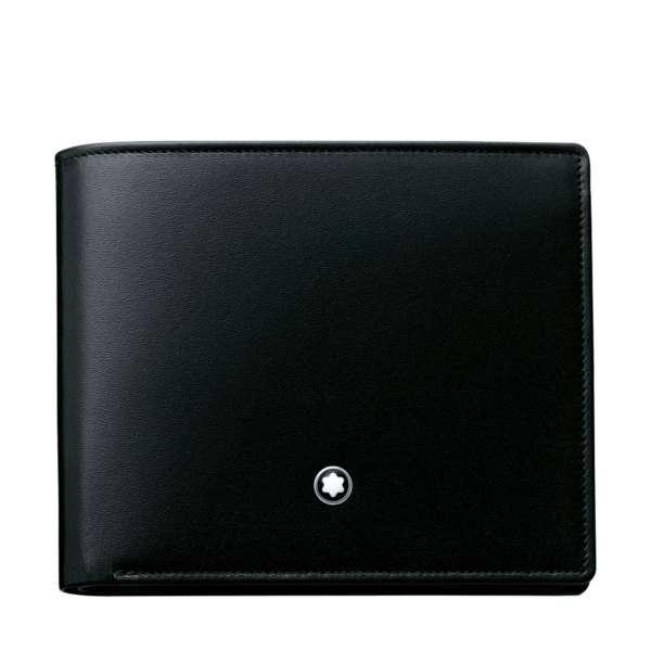 Brieftasche 12 cc m. 2 Fächer, schwarz