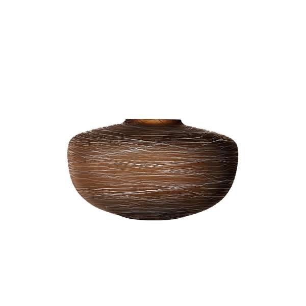 Vase 17,5 cm erde/Kreidefaden