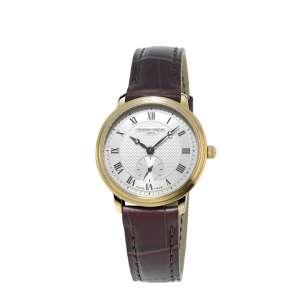 Armbanduhr Ultra Slim Damen Quarz Gelbvergoldet