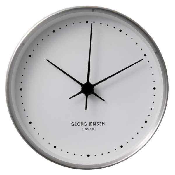 Uhr 10 cm Stahl/weiss