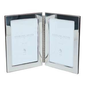 Doppelrahmen m. Scharnier 10x15 cm Sterling Silber