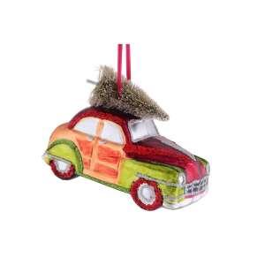Hänger Auto m.goldenem Weihnachtsbaum
