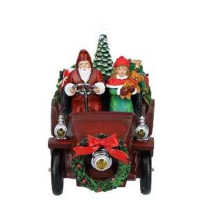Santa im Oldtimer