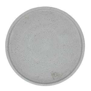 Kerzenteller rund 25 cm grau