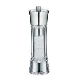 Salzmühle 18 cm Edelstahl/Acryl