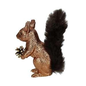 Eichhörnchen kupfer, Plüschschwanz