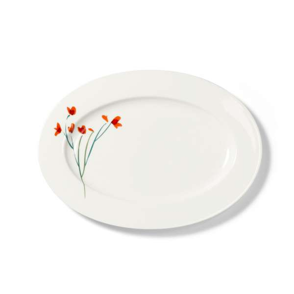 Platte oval 34 cm rot