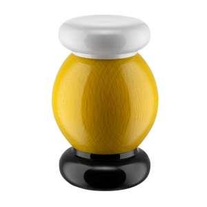 Salz-/Pfeffer-/Gewürzmühle 11 cm Buchenholz/Keramik gelb