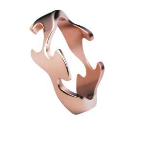 Ring Center Rotgold 750/-