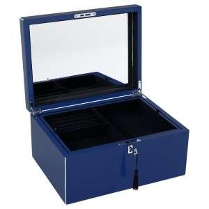 Schmuckbox m. Schloss windsor blue