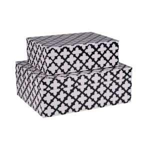 Aufbewahrungsbox 2er Set weiß/schwarz