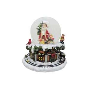 Spieluhr Schneekugel Santa & Baum