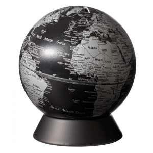 Globus Spardose matt schwarz