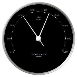 Barometer 10 cm chrom/schwarz