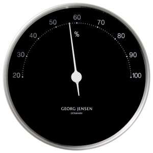 Hygrometer 10 cm chrom/schwarz
