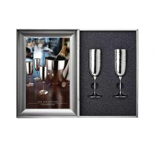 Champagner - Geschenkset versilbert