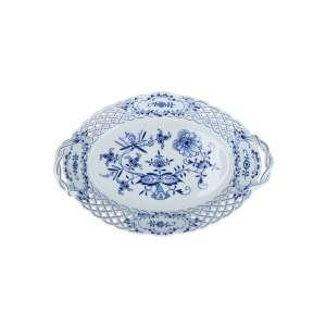 Schale mit Griff oval dbr. 25 cm