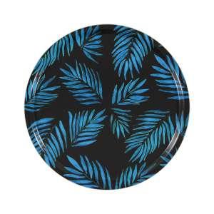 Tablett rund 45 cm blau