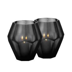 Teelichthalter (2 Stk.) 16 cm schwarz