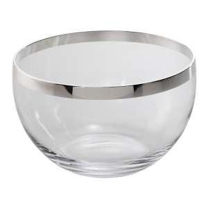 Schale 23 cm Kristall/versilbert