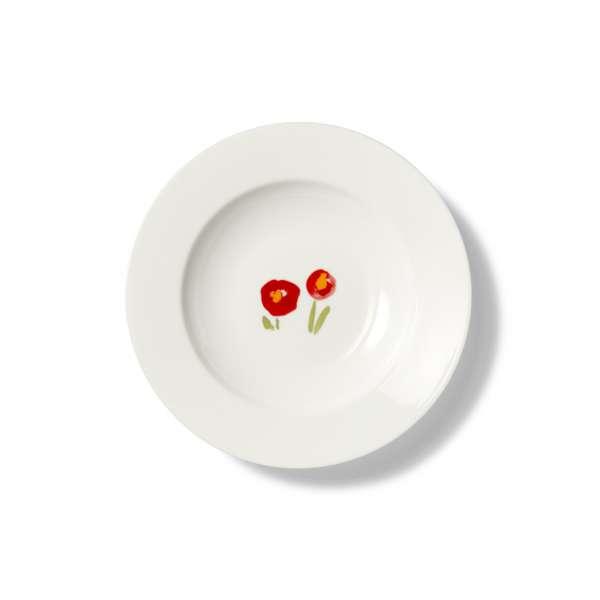 Suppenteller 23 cm Mohn