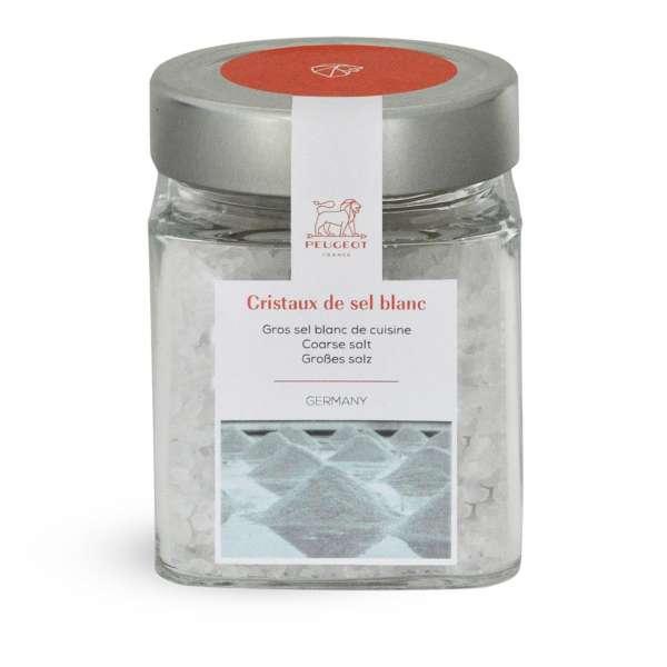 Glas mit weißem Salz 370 g