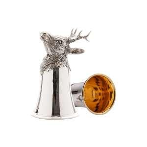 Tierkopfbecher Rehbock H 12 cm Sterling Silber